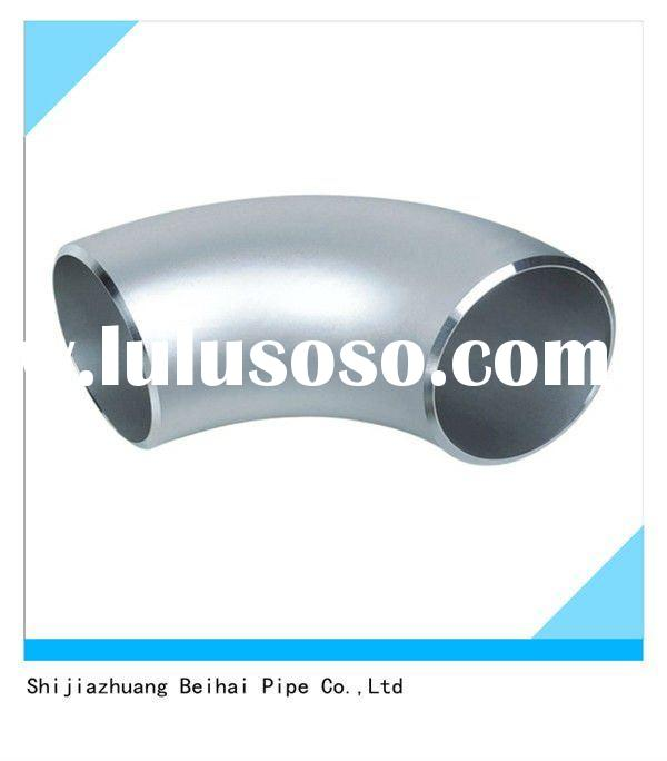 A403 WP304/316L stainless steel butt welded 90 elbow