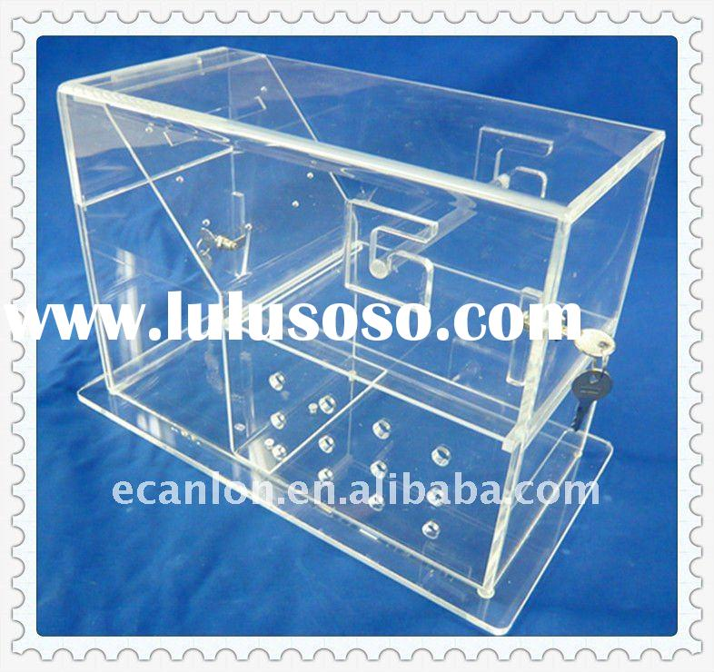 Acrylic container with slot