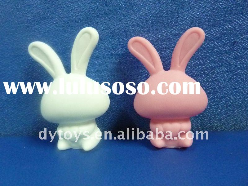 Best quality pvc white rabbit toys,