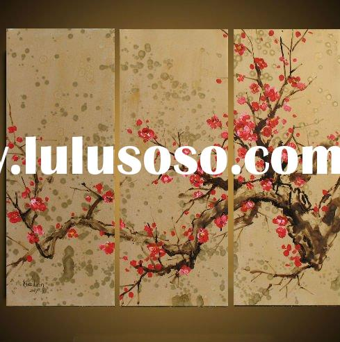 Latest Hot Selling High Quality Beautiful Chinese Decorative Flower Oil Pianting On Canvas