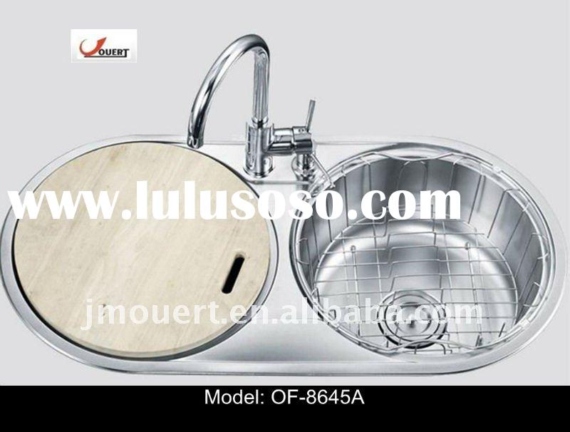 Stainless Steel Double Bowl Kitchen Sink OF-8645A