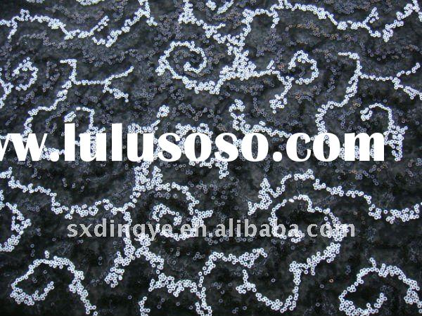 poly mesh spangle/sequin embroidery fabric