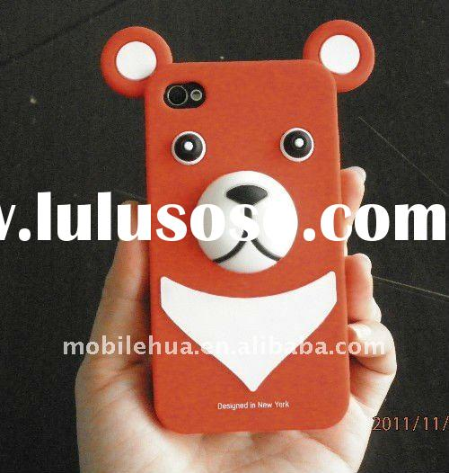 Hot sale! Cartoon shape protector case for IPHONE 4S