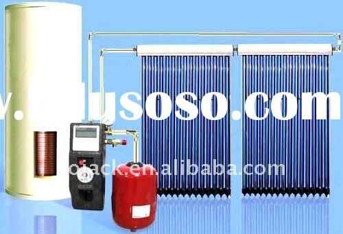 Split solar water heater collector system