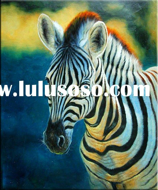 zebra oil painting - photo #47