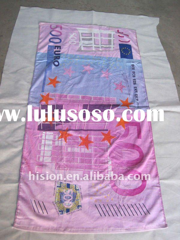30x60inch 500 EURO Full size reactive duplex printed beach towel