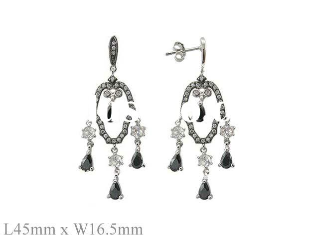 925 Silver Chandelier Earrings
