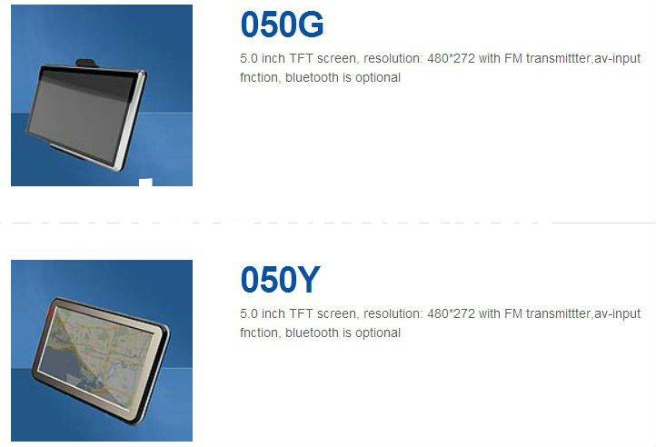 GPS 5 inch TFT screen, resolution: 480*272 with FM transmittter,av-input fnction, bluetooth is optio