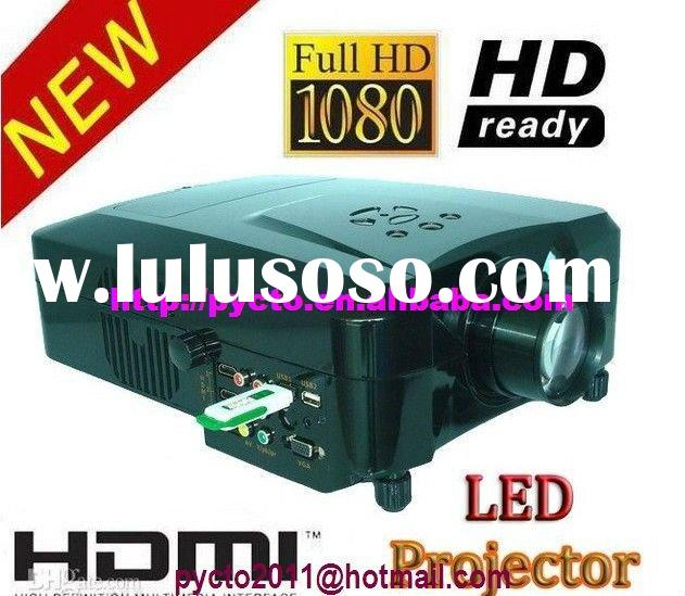 1080P LED Home Theater Projector LED lamp lasts 50000 hours ,support hard disk and Support Format 3D