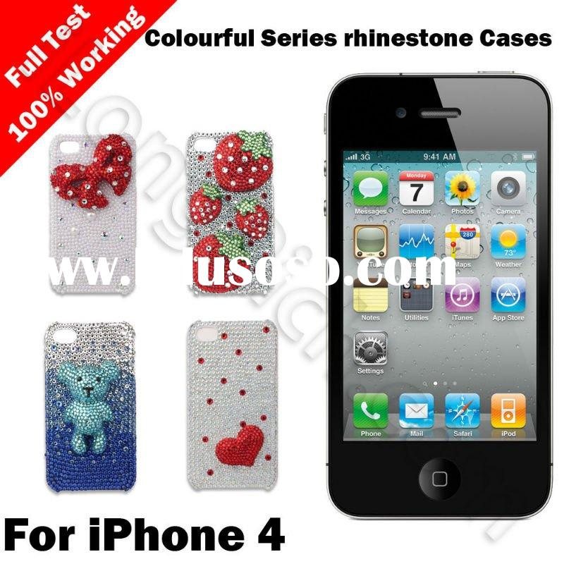 For iPhone 4 Color Rhinestone/Diamond Cases