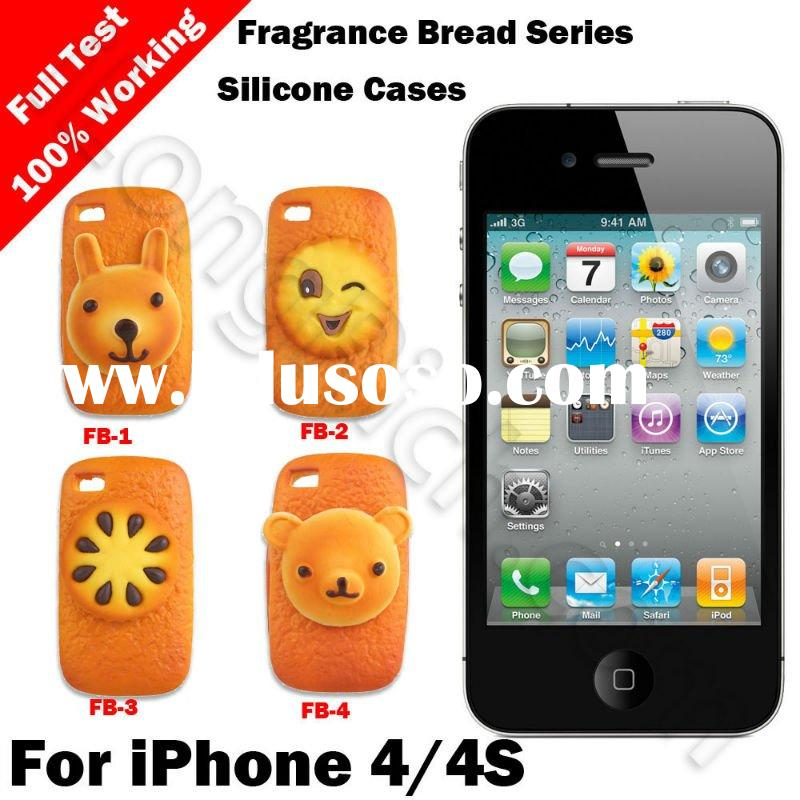 For iPhone 4 With Scented Bread Series Silicone Cases