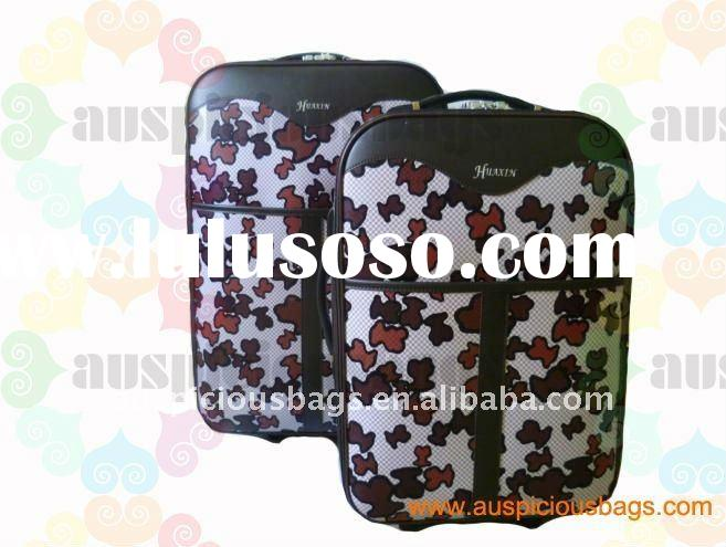 High quality beautiful popular PVC trolley luggage bag sets