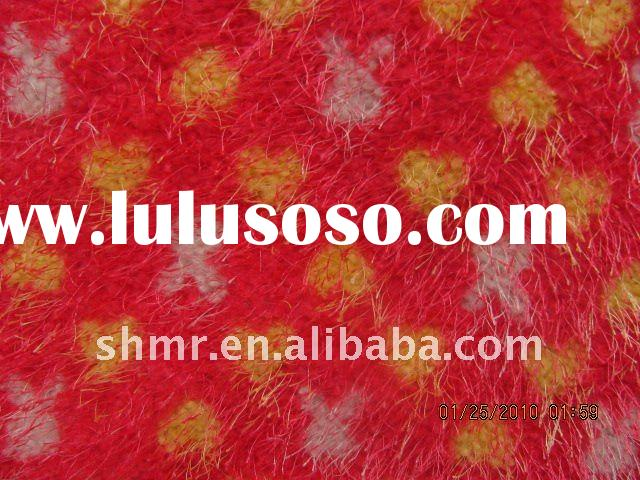 2011 New Style Printed polyester fabric/ pine needle plush fabric