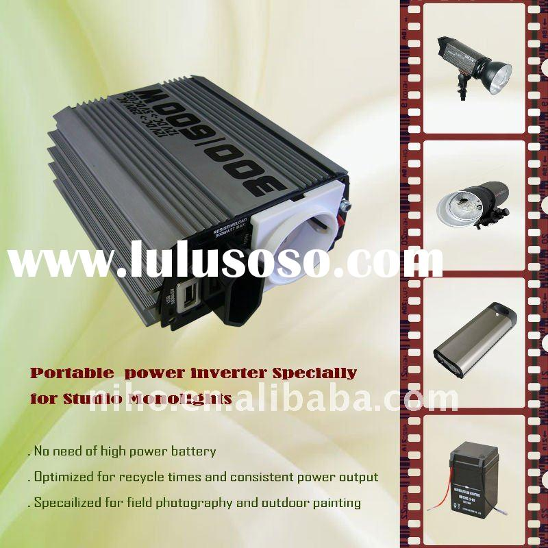 300Watt Portable sudio monolight power inverter 14.8v to 110v/120v/220v/230v/240v 50Hz or 60Hz