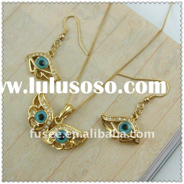 Charm 18K Gold Plating with Evil Eye Fashion Jewelry Set