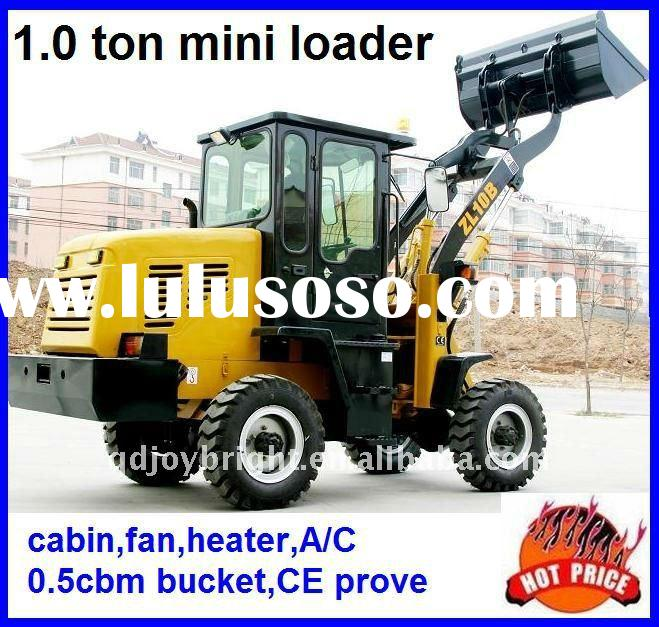 ZL10B 1ton mini wheel loader,4WD,0.5cbm bucket,diesel engine,hydraulic pipe,CE prove,quick hitch