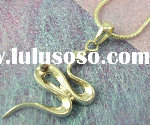 designer snake fashion jewelry alloy necklaces features a snake pendants