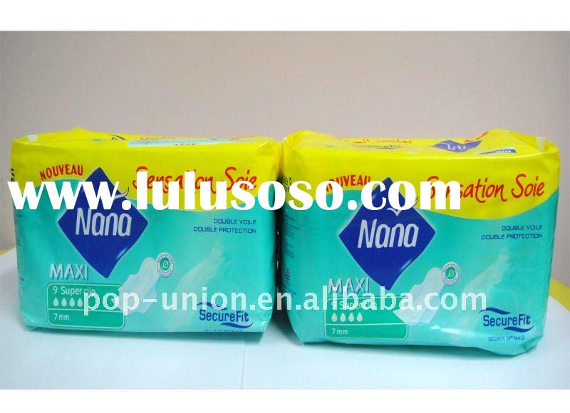 245mm cotton anion sanitary napkin with good price