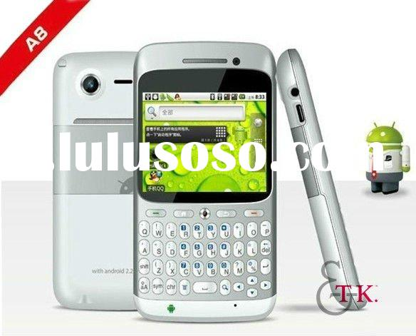 "Unlocked phones Android 2.2 A8 2.6"" touch screen Dual Sim WIFI TV Qwerty keyboard Smart phone T"
