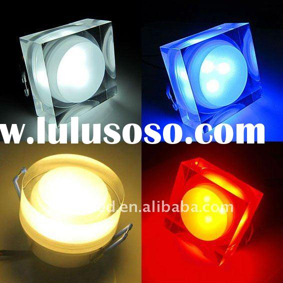 acrylic cover 3W LED ceiling/down bulb/lamp light,different color&shape