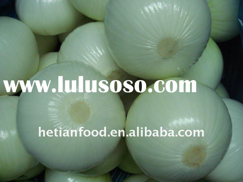 peeled fresh yellow onion