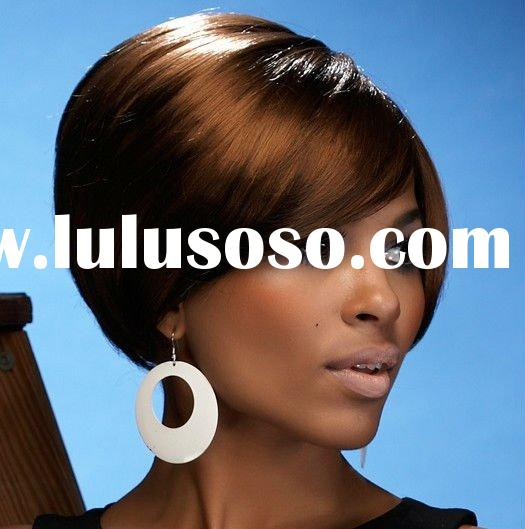 Afro style synthetic hair wigs