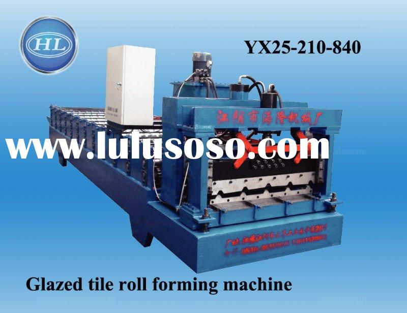 Colored galze roof tile roll forming machine supplies/manufacturers China