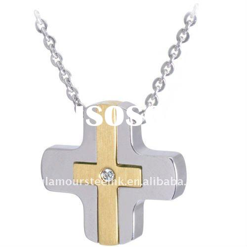 New Arrival Cross Pendant necklace 2012 IPG stainless steel jewelry wholesaler