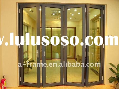 Reasonable price with top quality guangzhou aluminum  double glazed bifold door