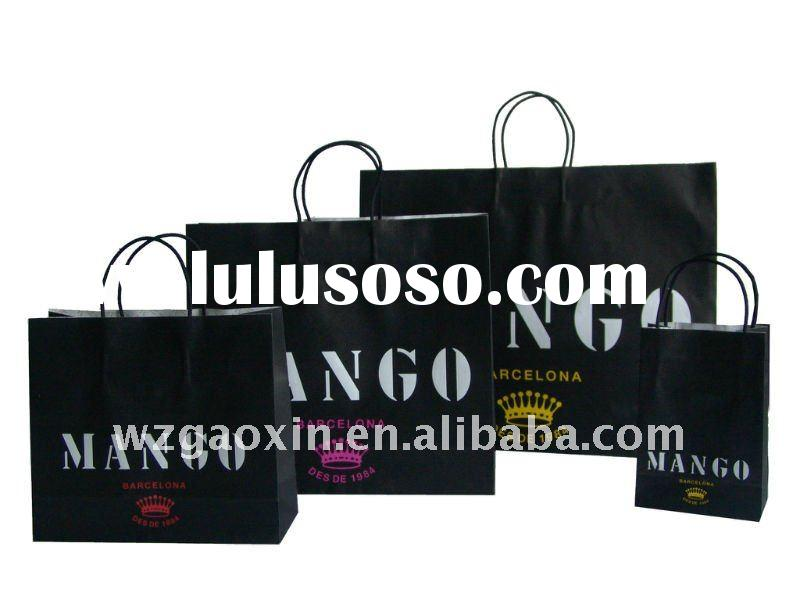 new fashion cheap kraft paper bag with twisted-pair handle