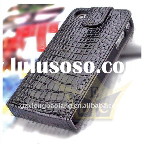 Crocodile Leather Wallet Flip Pouch Case Cover for iphone 4S