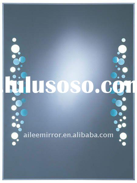 IP44 rated bathroom mirror with light (flourecent tube/LED available)