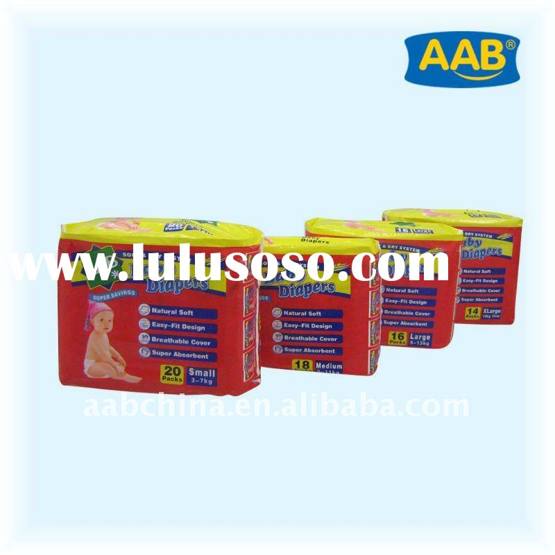 paper diaper for baby, high quality and absorbency