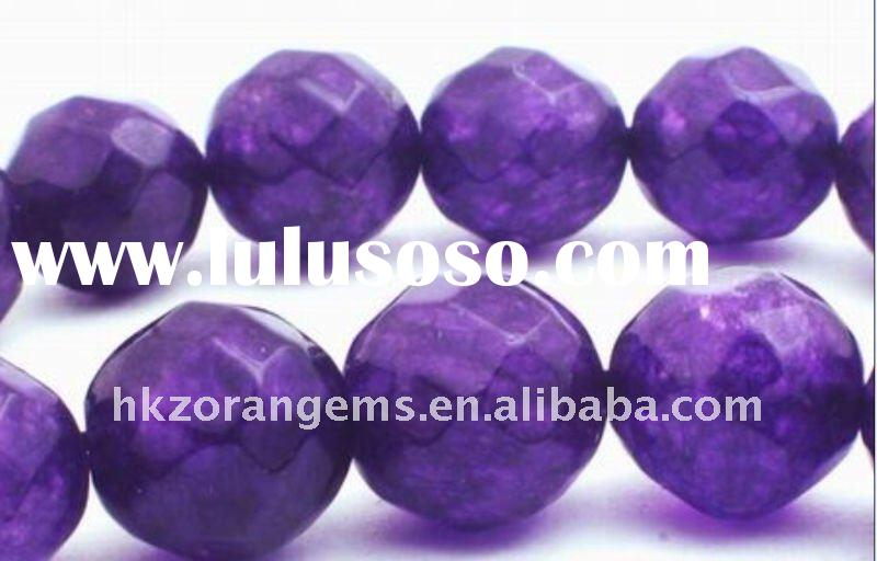 12mm round faceted amethyst natural gemstone loose beads
