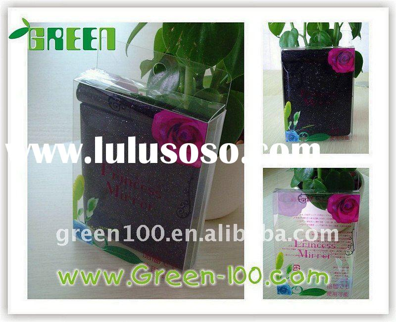 Transparent cosmetic pvc box