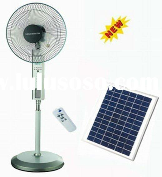 3-9.5hours working time Solar Ac/DC rechargeable fan