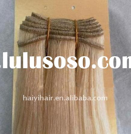 Machine made hair weft