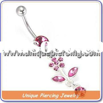 Fashion butterfly 316L stainless steel Body belly piercing (U8451)