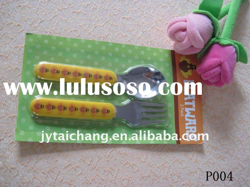 Promotional stainless steel spoon with plastic handle