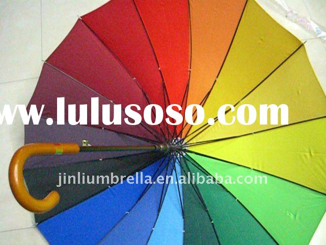 rainbow  straight umbrella
