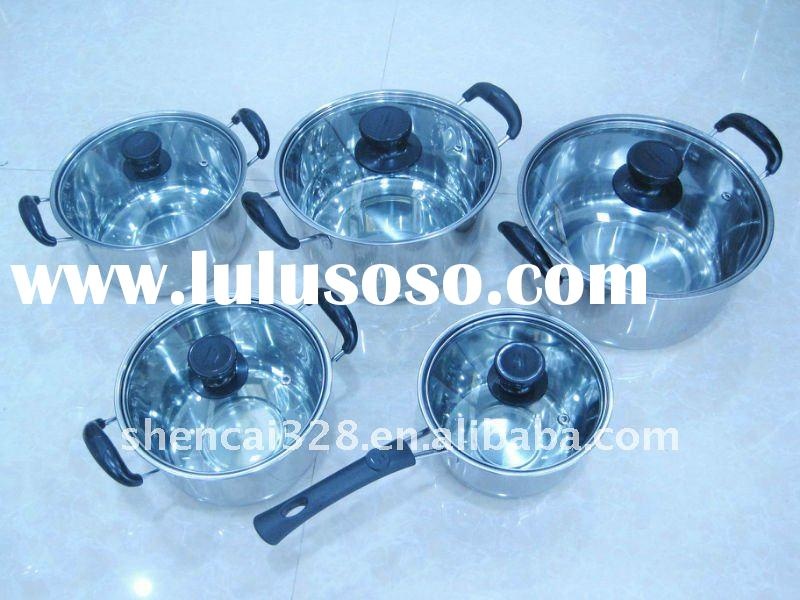 10pcs Stainless Steel Cookware Sets/ Kitchen Ware