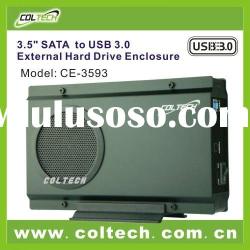 3.5'' aluminum sata usb 3.0 hdd enclosure