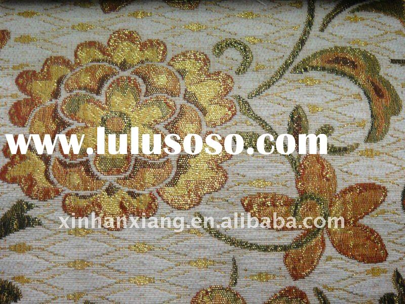 Jacquard big flower pattern cotton&polyester fabric DMF-0117