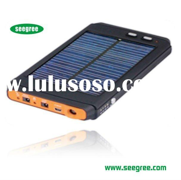 Portable durable long life solar laptop charger