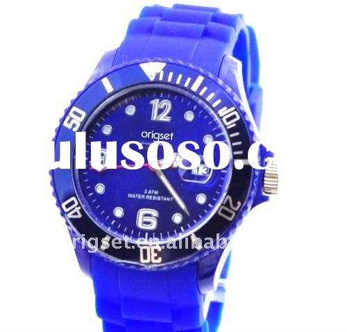 silicon/Plastic Watches men with calendar designer watches mans watch