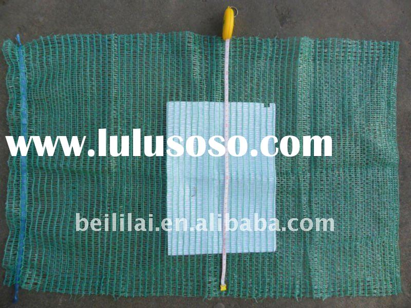 45x75cm, green, plastic mesh bag for potato packing, potato net bag, potato mesh bag, potato bag