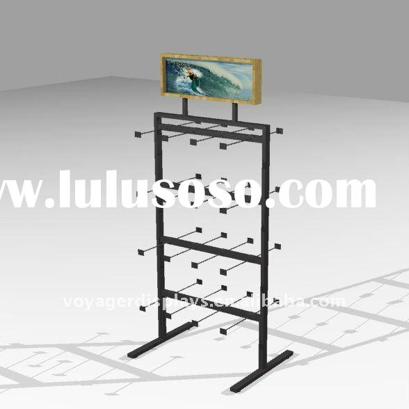Freestanding shoe rack for store