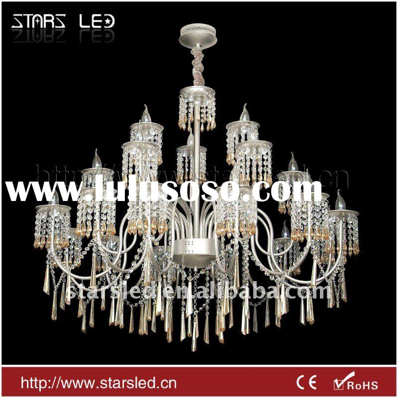 LED modern aluminium crystal pendant light