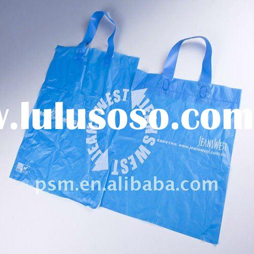 high quality eco friendly biodegradable loop handle bag