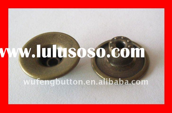 metal fashion shank jeans buttons